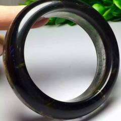 晶之灵水晶 水晶手镯  绿幽灵聚宝盆手镯(内径:57.5mm) 巴西原矿老料 晶体通透,