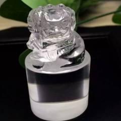 晶之靈水晶  美物天然白水晶獅子印章,雕工精美,晶體剔透,招財納福,避邪轉運,事事如意,