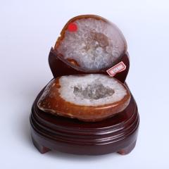 晶之艺  天然巴西玛瑙聚宝盆  宽×长×高:13cm×14cm×13cm