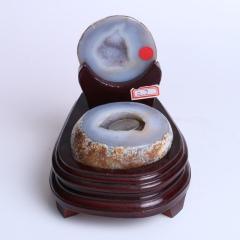 晶之艺  天然巴西玛瑙聚宝盆   宽×长×高:11cm×13cm×14cm