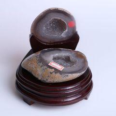 晶之艺 天然巴西玛瑙聚宝盆  宽×长×高:13cm×14cm×15cm