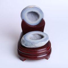 晶之藝 天然巴西瑪瑙聚寶盆  寬×長×高:11cm×12cm×15cm