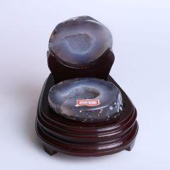 晶之藝 天然巴西瑪瑙聚寶盆  寬×長×高:12cm×12cm×14cm