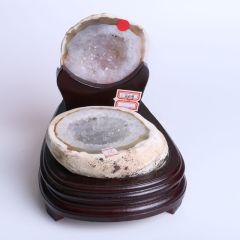 晶之藝 天然巴西瑪瑙聚寶盆 寬×長×高:13cm×16cm×15cm