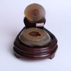 晶之藝 天然巴西瑪瑙聚寶盆 寬×長×高:13cm×13cm×15cm