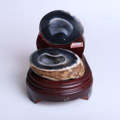 晶之藝 天然巴西瑪瑙聚寶盆 寬×長×高:12cm×13cm×15cm