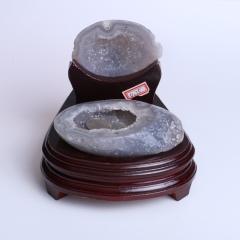 晶之藝 天然巴西瑪瑙聚寶盆 寬×長×高:14cm×13cm×14cm
