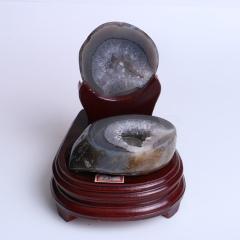晶之藝 天然巴西瑪瑙聚寶盆 寬×長×高:12cm×14cm×15cm