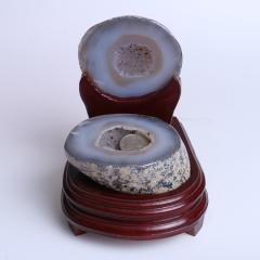 晶之藝 天然巴西瑪瑙聚寶盆 寬×長×高:12cm×13cm×16cm