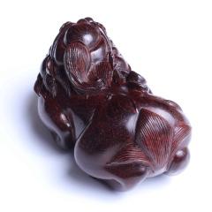 雕刻人生 小叶紫檀貔貅