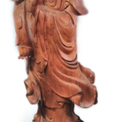 雕刻人生 血檀 观音菩萨  1.8m