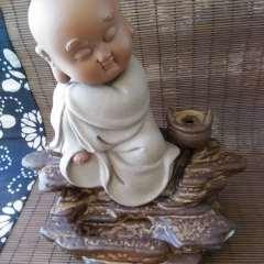 雕刻人生  倒流香香爐 陶瓷  可愛