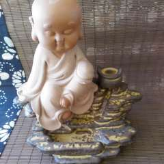 雕刻人生  倒流香香炉 陶瓷  可爱