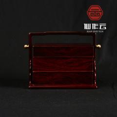 小叶紫檀首饰盒 老料顺纹保真首饰盒 手提式便携首饰盒