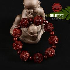 厂家直销 印度小叶紫檀貔貅手串 精品手工雕刻貔貅手串 男女款
