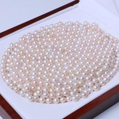 LV珠光宝气 天然淡水龙8国际老虎机正圆裸珠白色