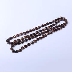 LV珠光宝气 畸形咖啡色豆色毛衣链