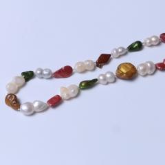 LV珠光寶氣 畸形珠毛衣鏈