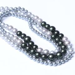 LV珠光宝气 天然贝珠高仿珍珠毛衣链