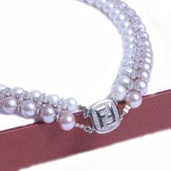 浣纱珍珠  珍珠项链 高圆圆款珍珠项链 配件为925银