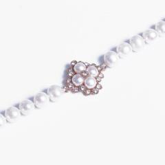 浣纱珍珠  珍珠手链 8-9mm珍珠手链 配件钛钢