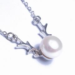 浣纱珍珠  珍珠吊坠 鹿角珍珠吊坠