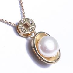 浣纱珍珠  珍珠吊坠 10-11 元宝套装 戒指 吊坠