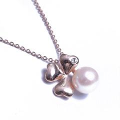 浣纱珍珠  珍珠套装 10-11玫瑰金套装 吊坠 戒指