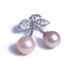 浣纱珍珠  珍珠吊坠 6-7 樱桃吊坠 925纯银
