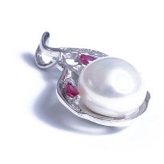 浣纱珍珠  珍珠吊坠 10-11纯银珍珠吊坠