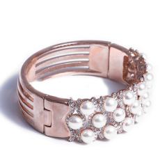 浣纱珍珠 黄金珠宝 珍珠手镯 6-7珍珠钛钢手镯 配件钛钢