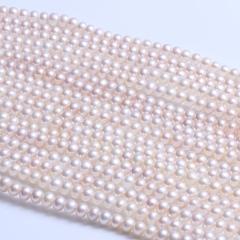 唯伊珠宝  四面光珍珠项链 无暇强光 天然淡水珍珠
