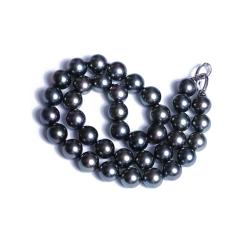 爱上珍珠 精美珍珠项链 黑色海水珍珠基本无暇