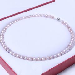 千禧珠宝  珍珠项链 7-8 珍珠无暇淡水项链