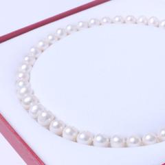 千禧珠宝  珍珠项链 10-11珍珠项链 淡水 正圆