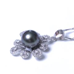 千禧珠宝  珍珠吊坠 海水 925银托