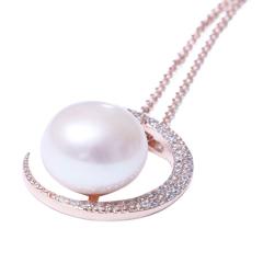千禧珠宝  珍珠吊坠 12-13 珍珠吊坠  淡水 925银托