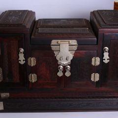 南海明珠 红酸枝镜箱