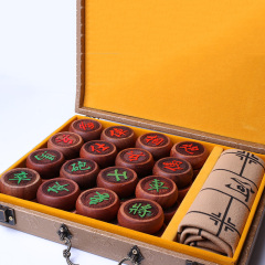 缅花象棋4.8皮盒装
