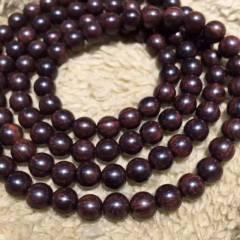 海南黃花梨 老料紫油梨虎皮紋0.8?108念珠,沉水級,重37.3克,個個滿紋,材質細膩光滑,