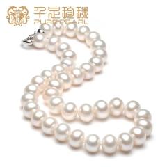 千足珠宝 惠蓓 四面光强亮12-13mm大颗淡水珍珠项链 白色 12-13mm 43cm