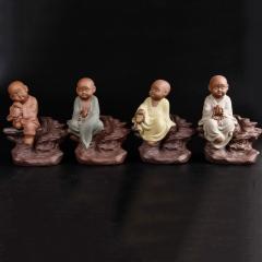 古韵仙居 景德镇 陶瓷小和尚 摆件