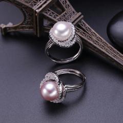 永宏珠宝 纯银鸟巢珍珠戒指