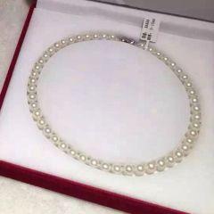 辰轩珠宝 精美珍珠项链 极光9-10近圆无瑕珍珠 扣子925纯银