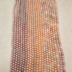 辰轩珠宝 精美珍珠项链 8-9mm近圆无瑕淡水彩珠