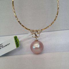 辰轩珠宝 精美珍珠项链 11-12mm爱迪生 14K金 银镀金