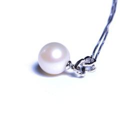 嘉和珠宝 淡水正圆珠吊坠 10-11mm圆珠 S925银吊坠+银链子