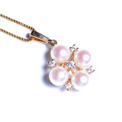 嘉和珠宝 14K金小花款吊坠 5-5.5mmAkoya(配送银链)