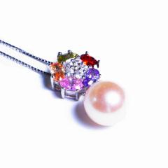 嘉和珠宝 淡水珠吊坠 10-11mm正圆无瑕 S925银