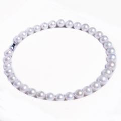嘉和珠宝 天然淡水珍珠13-15mm圆珠项链 表面微瑕 925银扣